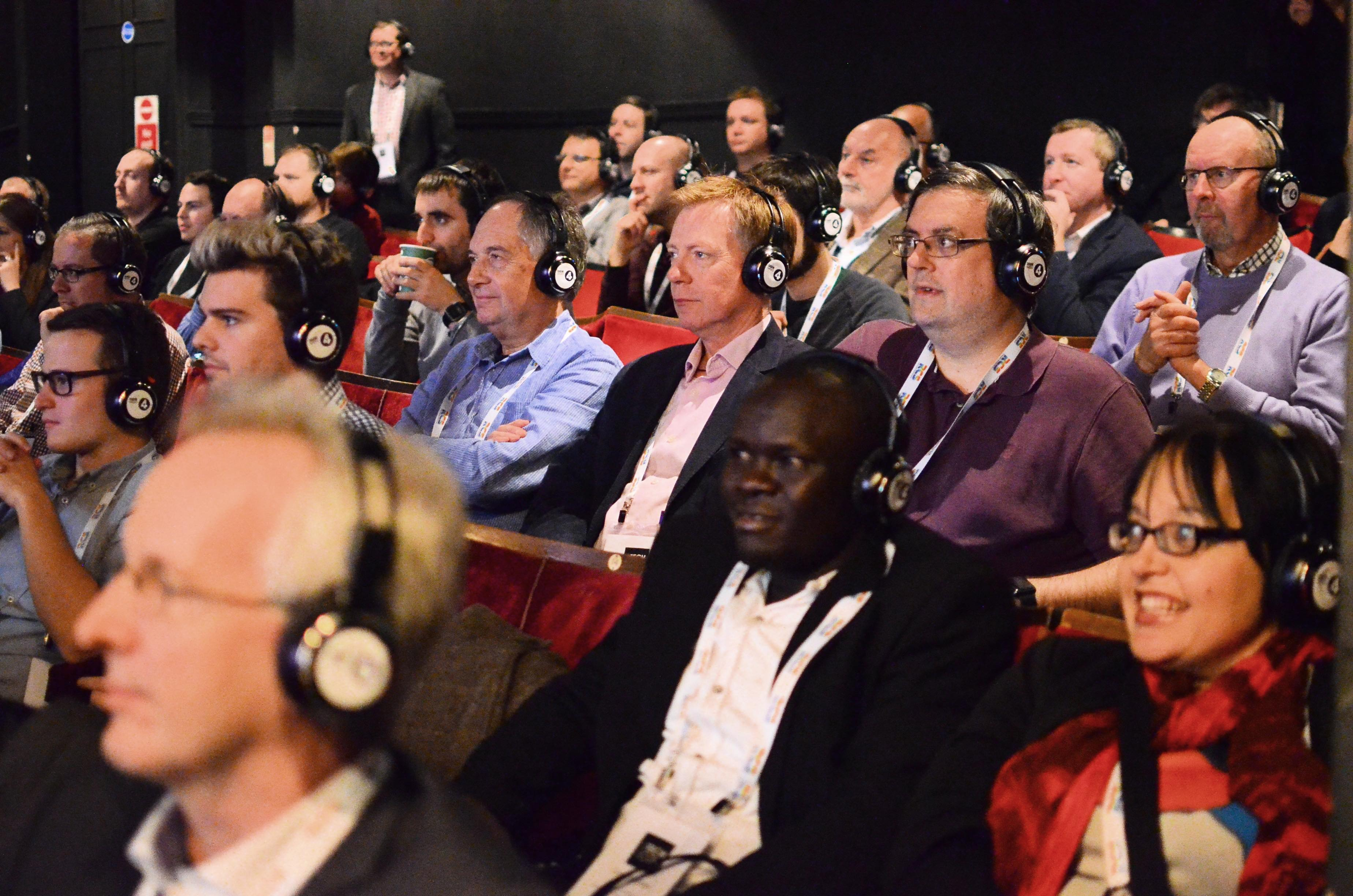 Close up of the audience at Radio TechCon 2016