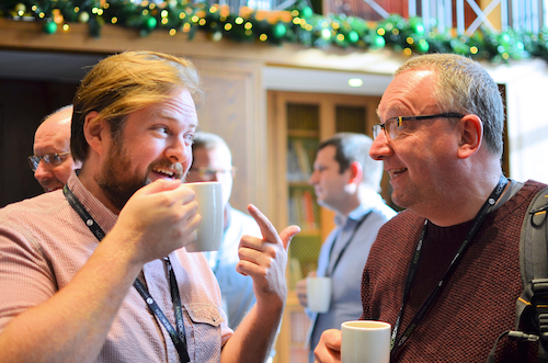 Two men enjoying a cup of tea at Radio TechCon 2017