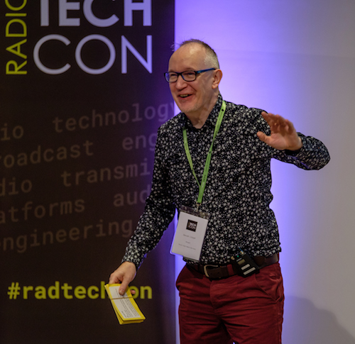 David Lloyd presenting Radio TechCon 2017