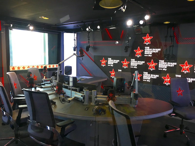 Virgin Radio studio UK